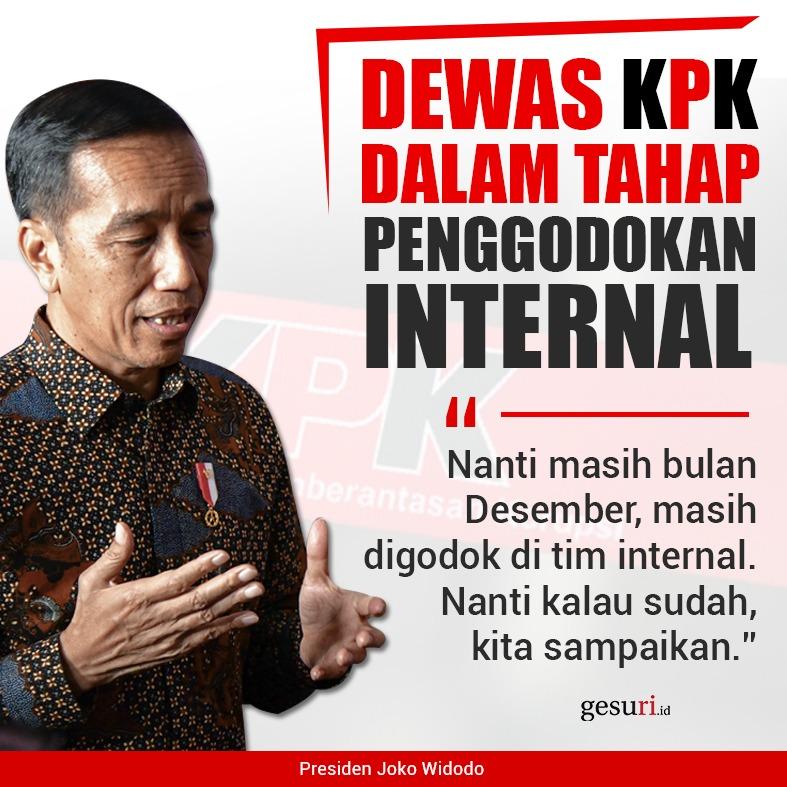 Dewan Pengawas KPK Sedang Dalam Tahap Penggodokan Internal