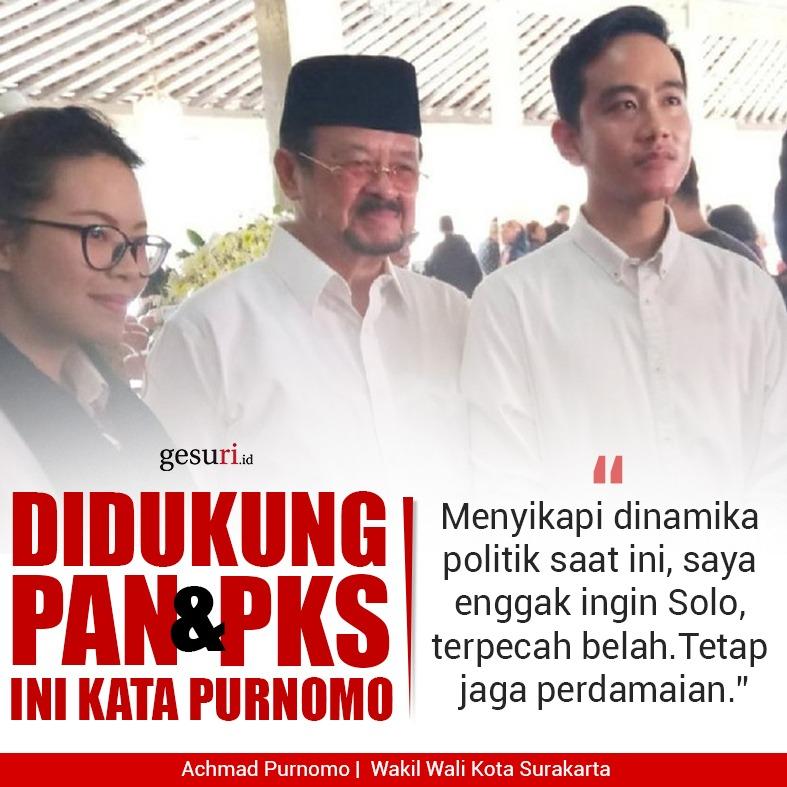 Didukung PAN dan PKS, Berikut Ini Kata Purnomo Soal Pilkada