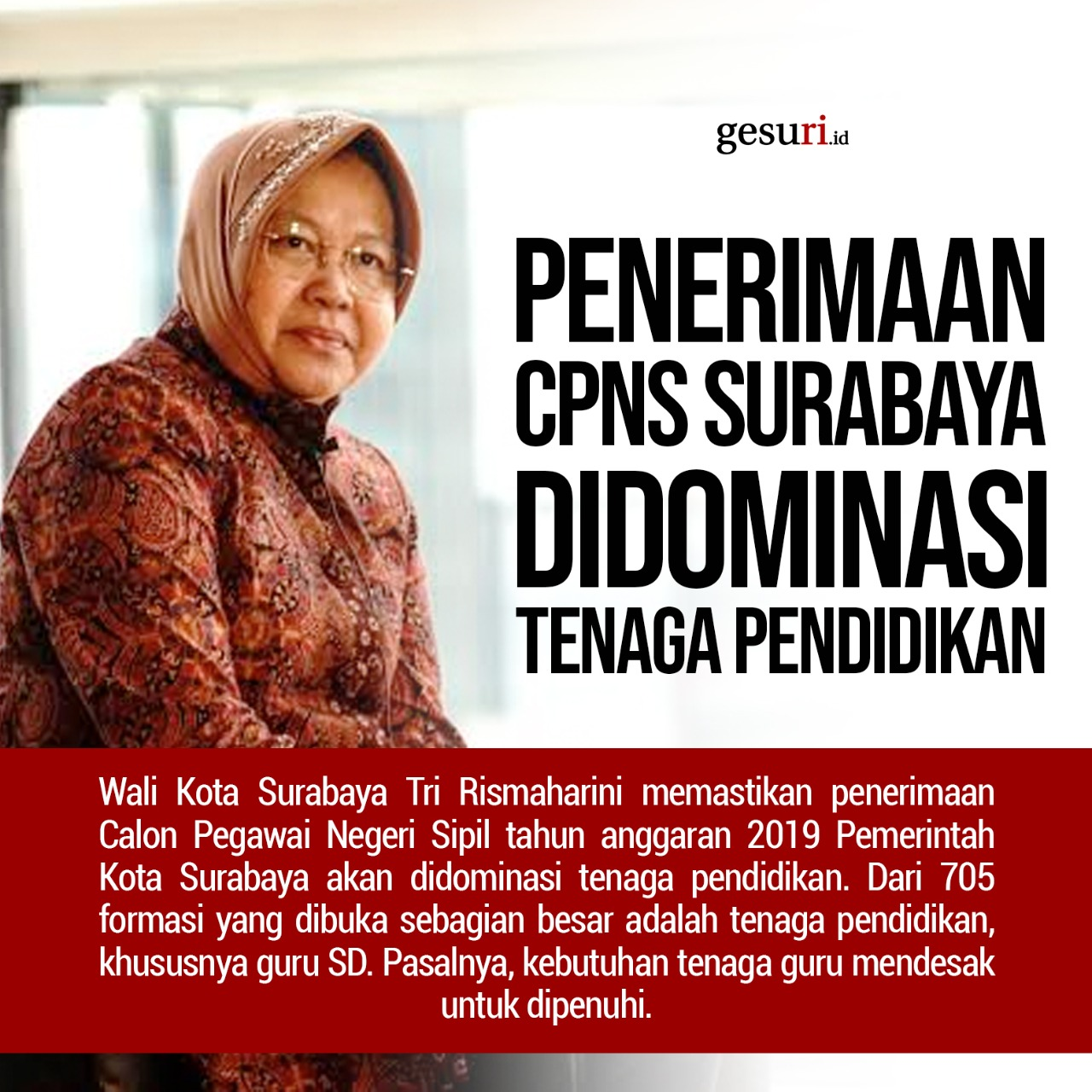 Penerimaan CPNS Surabaya Didominasi Tenaga Pendidikan