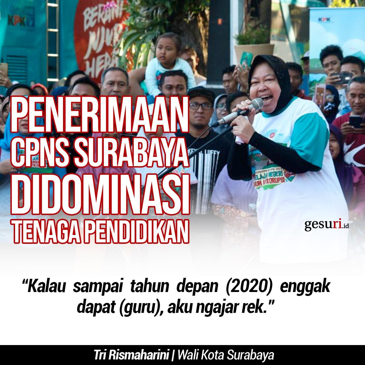 Penerimaan CPNS Surabaya akan Didominasi Tenaga Pendidikan