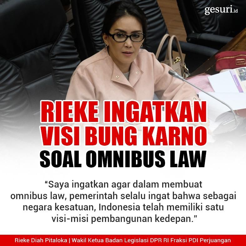 Rieke Ingatkan Visi Bung Karno Soal Omnibus Law