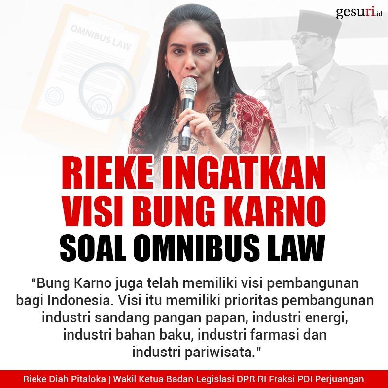 Rieke Mengingatkan Visi Bung Karno Soal Omnibus Law