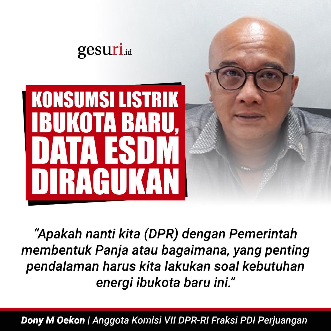 Konsumsi Listrik Ibukota Baru, Data ESDM Diragukan