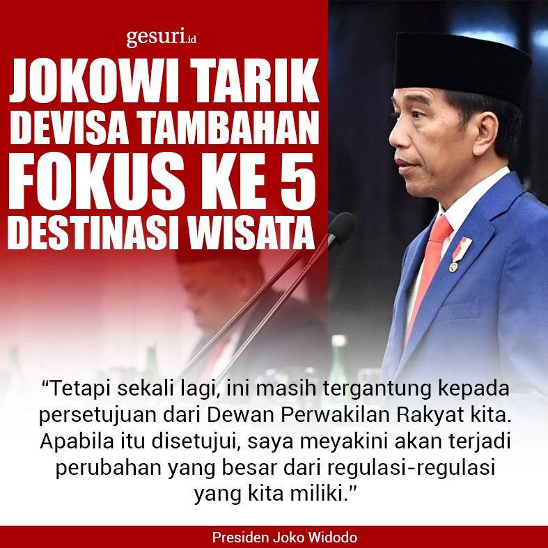 Jokowi Tarik Devisa Tambahan Fokus ke 5 Destinasi Wisata