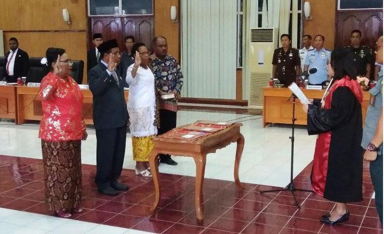 Sah! Srikandi Banteng Pimpin DPRD Biak Numfor