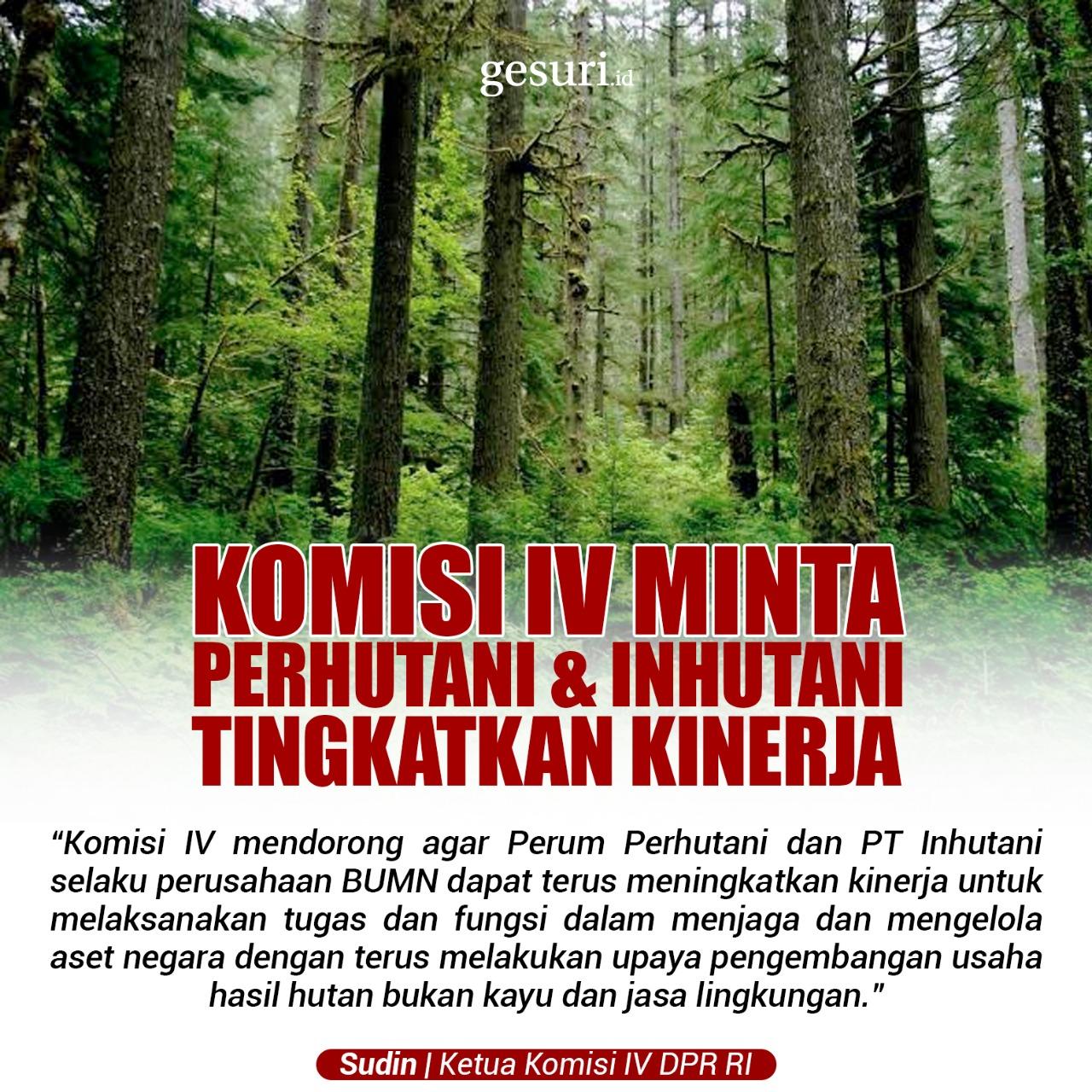 Komisi IV Minta Perhutani dan Inhutani Tingkatkan Kinerja
