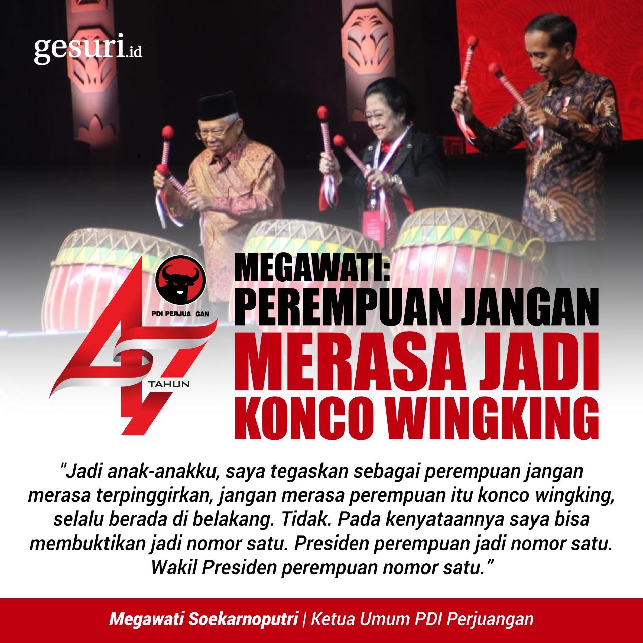 Megawati: Perempuan Jangan Merasa Jadi Konco Wingking