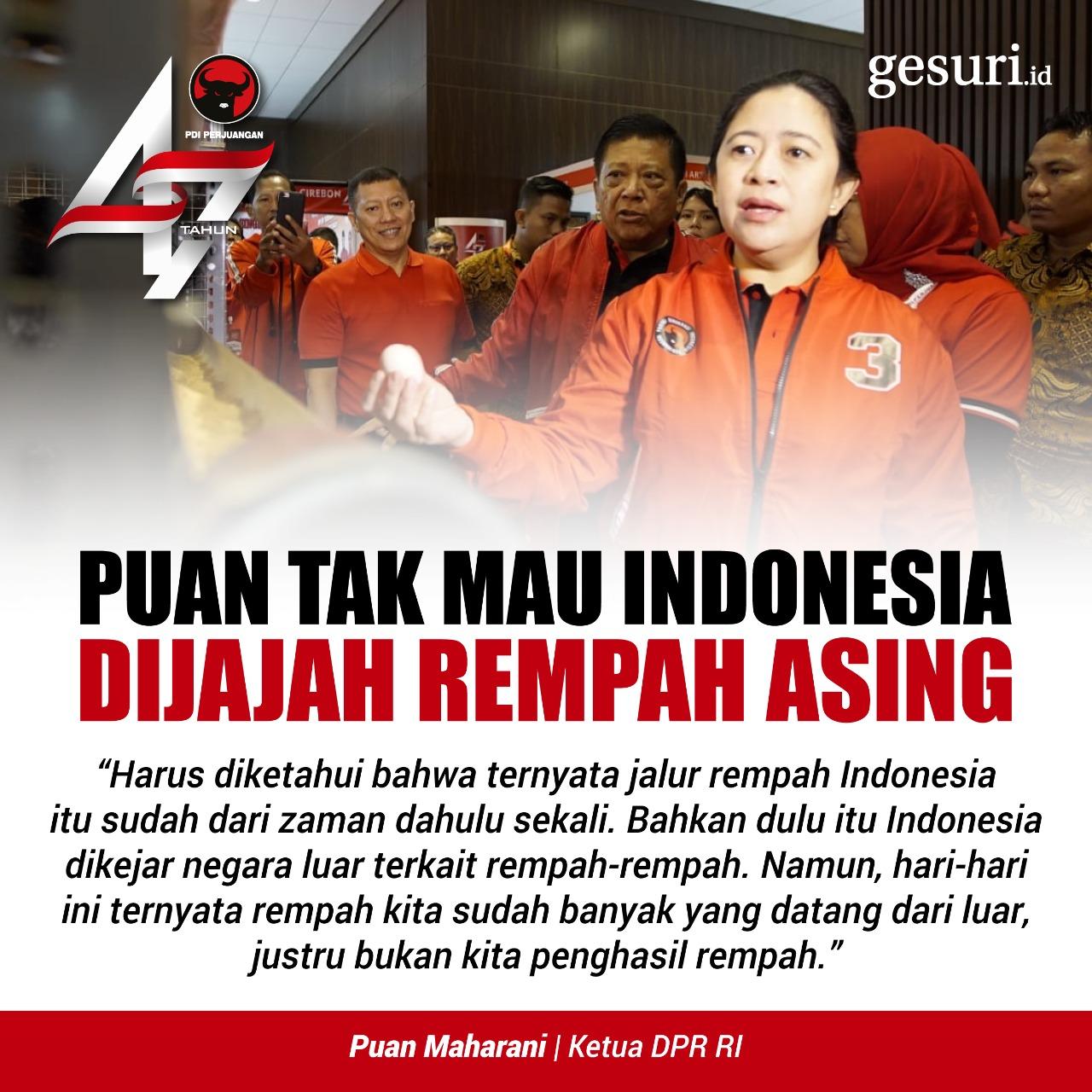 Puan Maharani Tak Mau Indonesia Dijajah Bangsa Asing