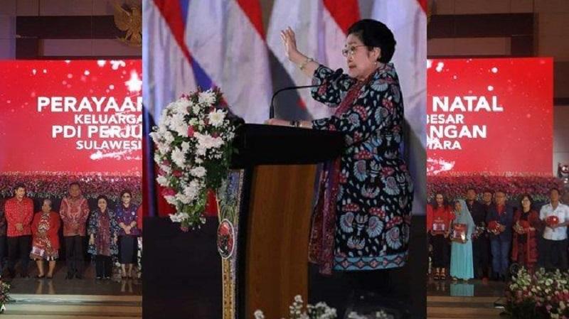 Megawati Bakar Semangat Kader Saat Perayaan Natal di Sulut