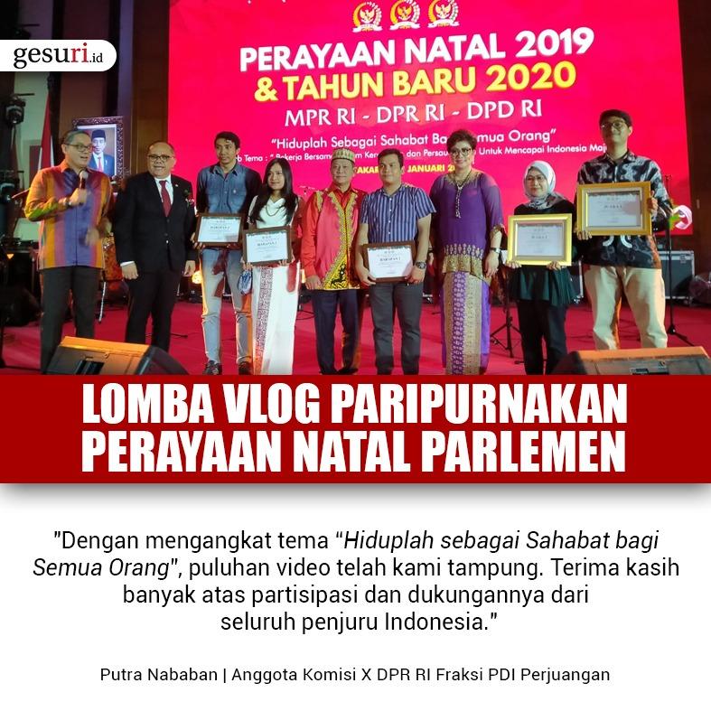 Lomba Vlog Paripurnakan Perayaan Natal Parlemen 2019