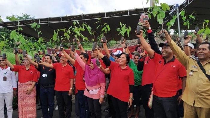 Gerakan Mencintai Bumi, PDI Perjuangan NTT Tanam 1.000 Pohon