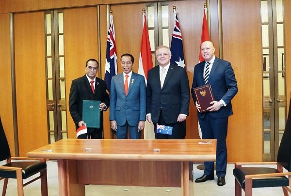 RI Tanda Tangani Kesepakatan Perhubungan dengan Australia