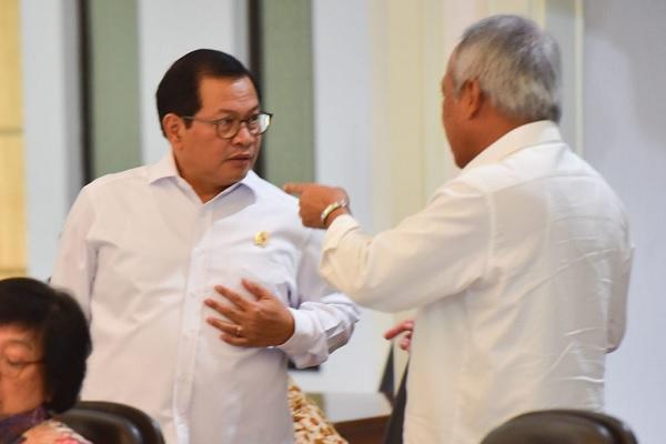 Seskab & Menteri PUPR Tinjau Pembangunan Bandara Kediri