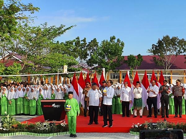 Presiden Resmikan Rehabilitasi & Renovasi Madrasah di Riau