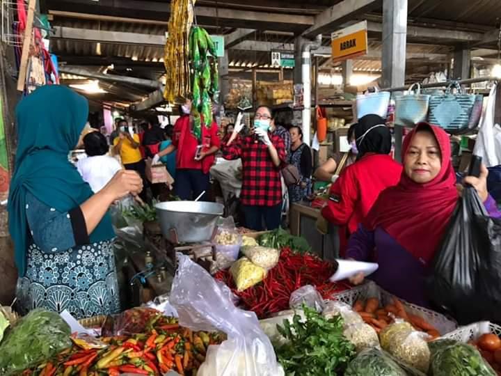 My Esti Gelar Sosialisasi Pencegahan Corona di Pasar Godean