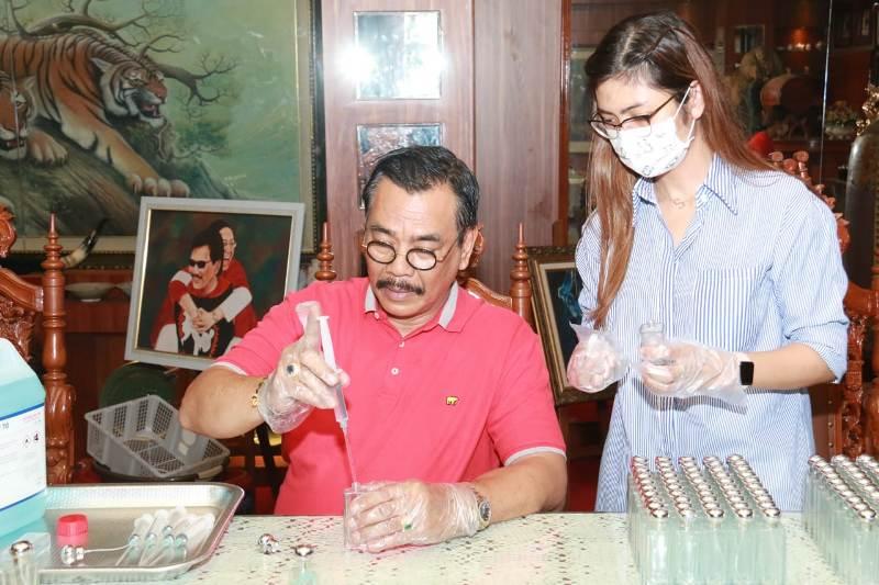 """PDI Perjuangan Kepri Siap Bagikan """"Hand Sanitizer"""""""