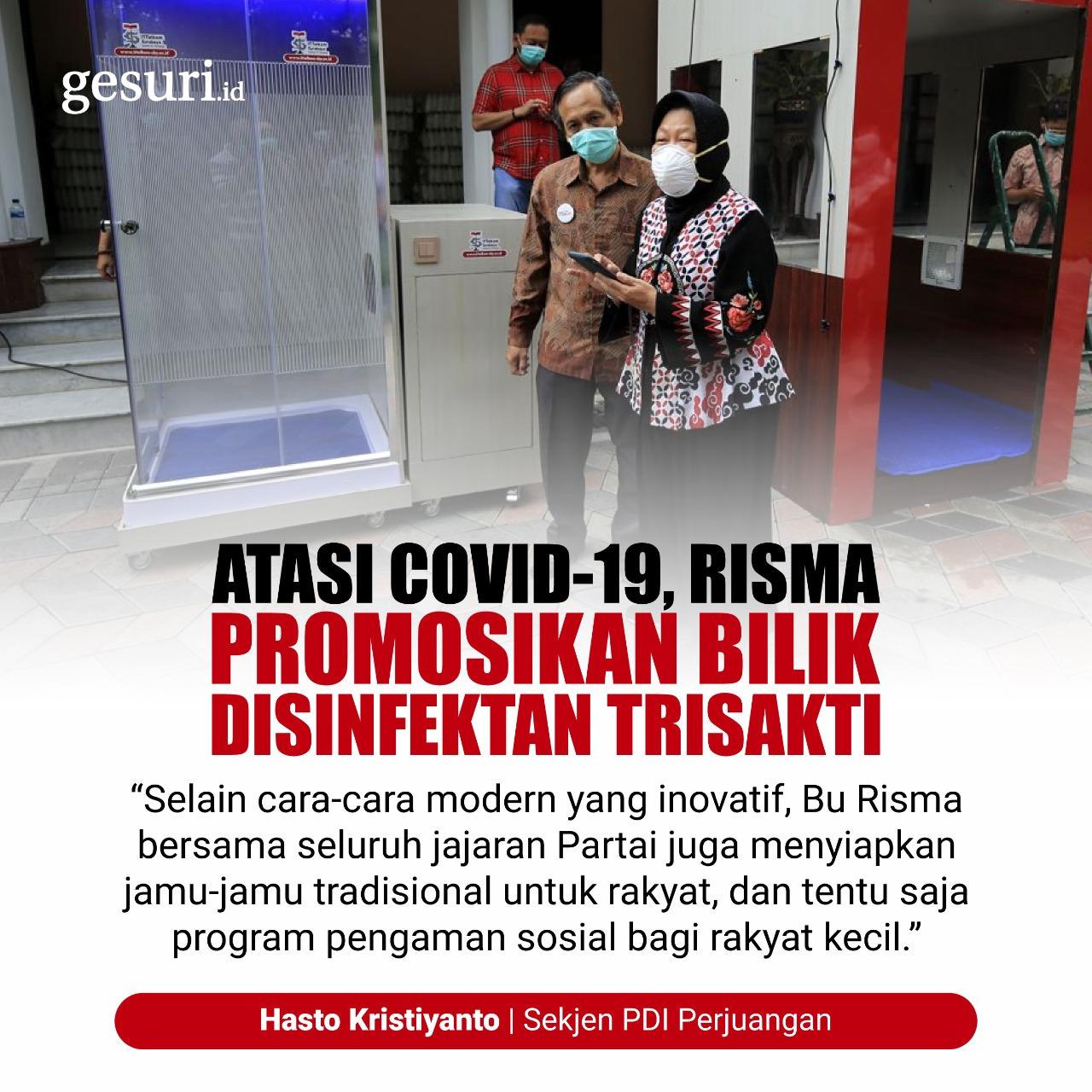 Atasi Covid-19, Risma Promosikan Bilik Disinfektan Trisakti