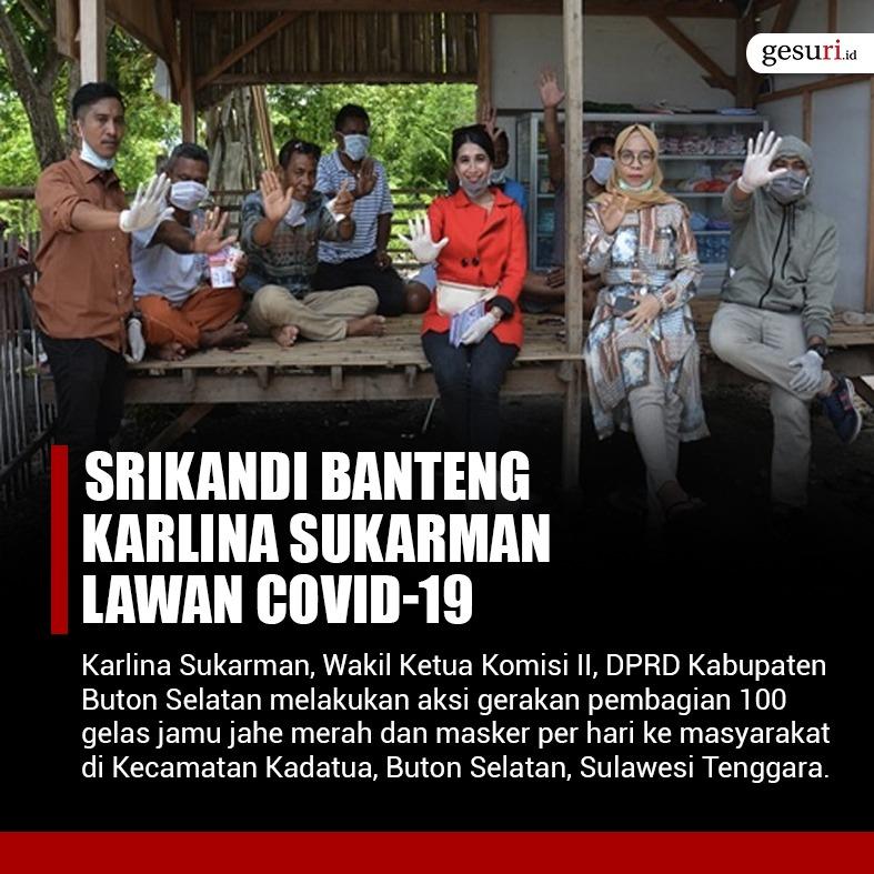 Srikandi PDI Perjuangan Karlina Sukarman Lawan Covid-19