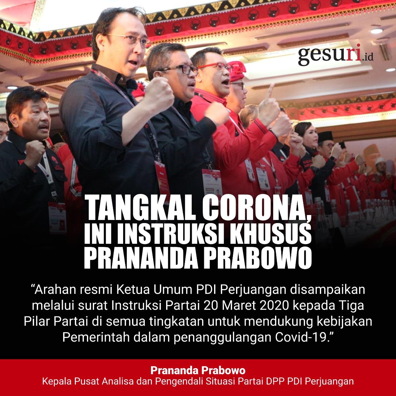 Tangkal Corona, Ini Instruksi Khusus Prananda Prabowo