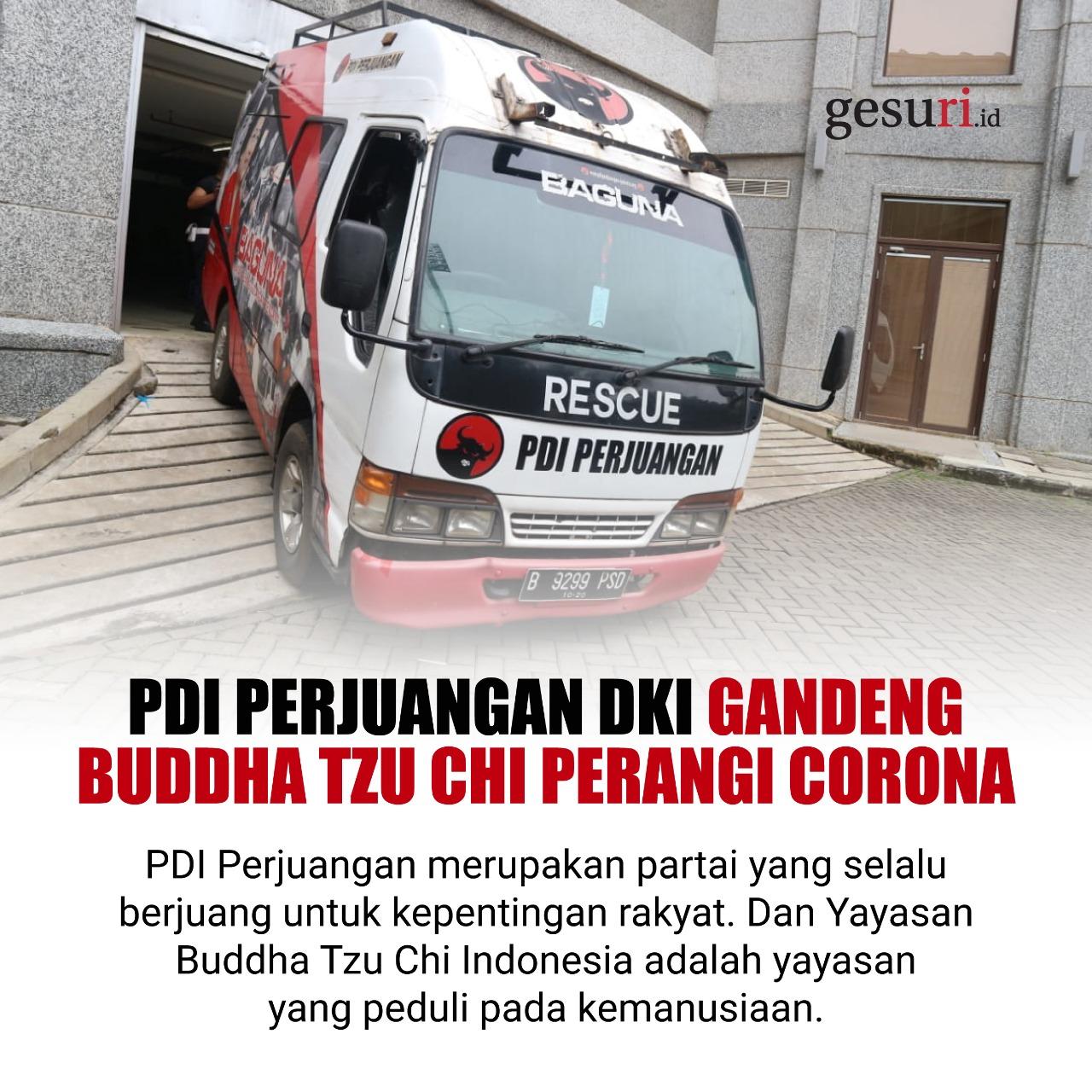 PDI Perjuangan Gandeng Buddha Tzu Chi Perangi Corona
