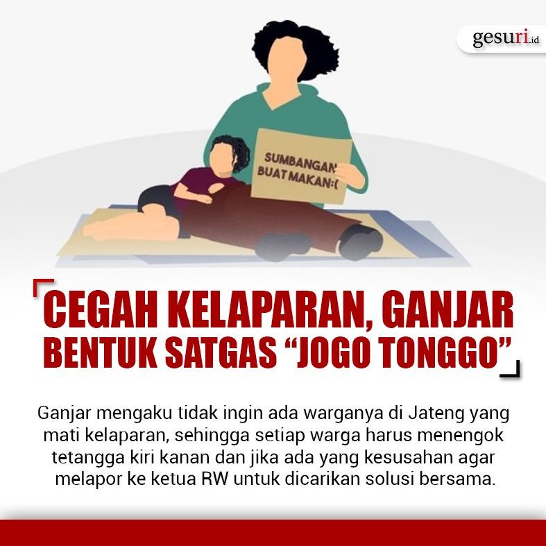 Cegah Kelaparan, Ganjar Pranowo Bentuk Satgas