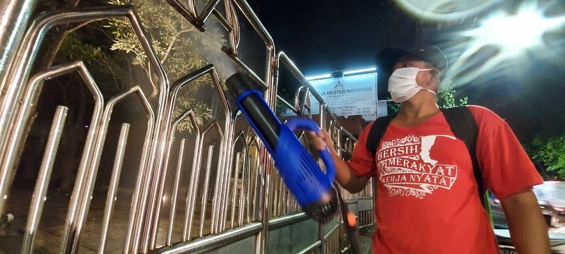 Posko Whisnu Sakti Awali Gerakan Swadaya Lawan Corona