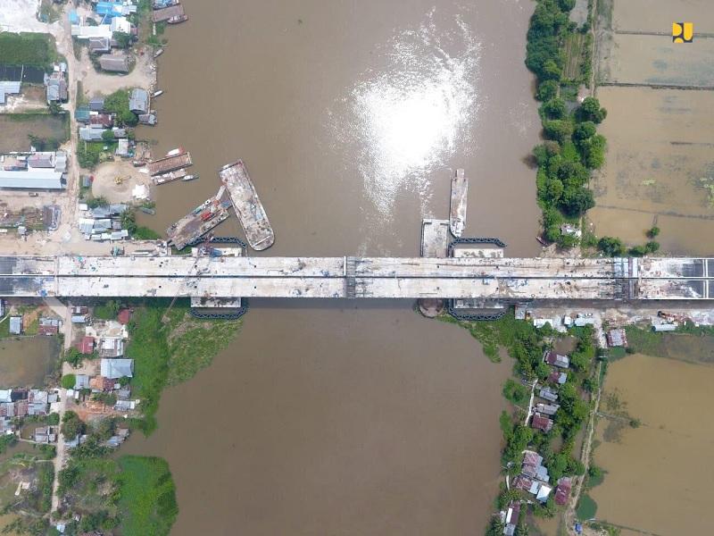 Jembatan Ogan 98%, Tol Agung-Palembang Tuntas Juli 2020