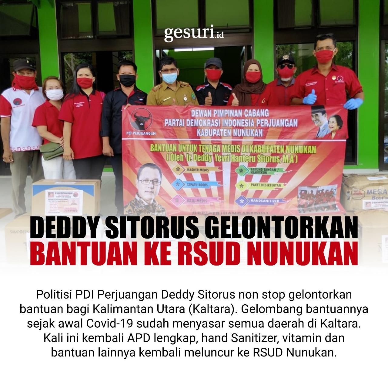 Deddy Sitorus Gelontorkan Bantuan untuk RSUD Nunukan