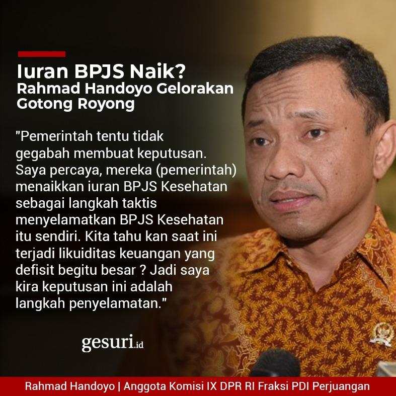 Iuran BPJS Naik? Rahmad Handoyo Gelorakan Gotong Royong