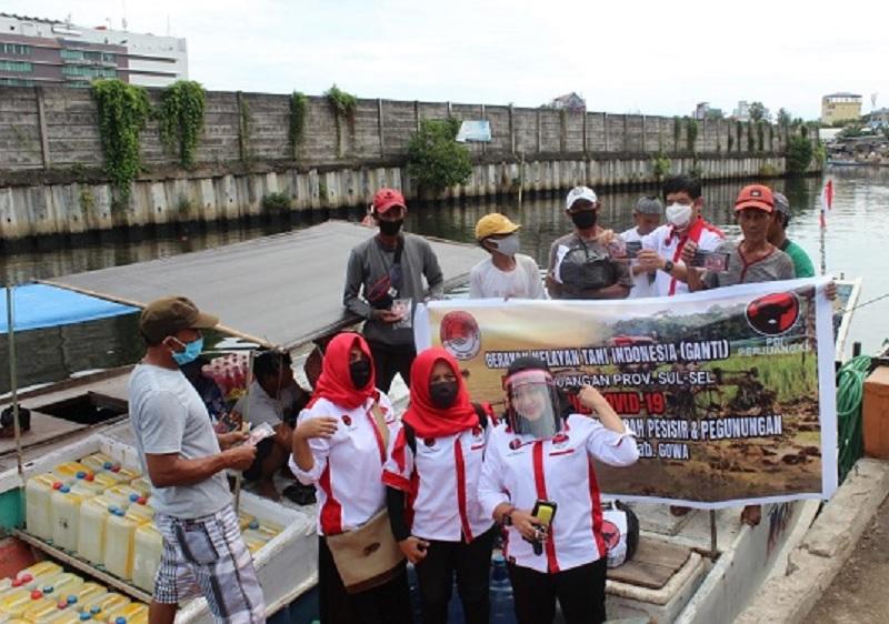 GANTI Sulsel Solidaritas Bantu Petani dan Nelayan