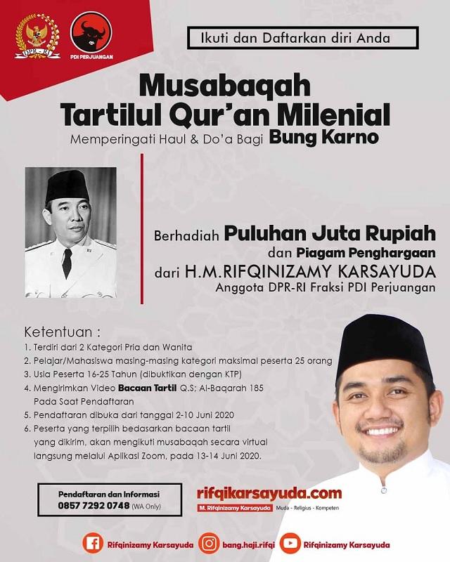 Rifqinizamy Gelar Musabaqah Tartilul Qur'an Milenial