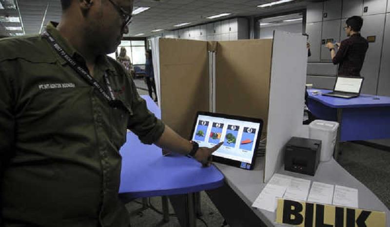 Pilkada denganE-VotingBelum Memungkinkan