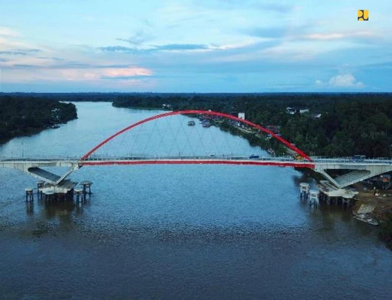 Jembatan Tumbang Samba Rampung, Dukung Lumbung Pangan