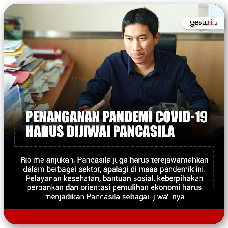 Penanganan Pandemi Covid-19 Harus Dijiwai Pancasila
