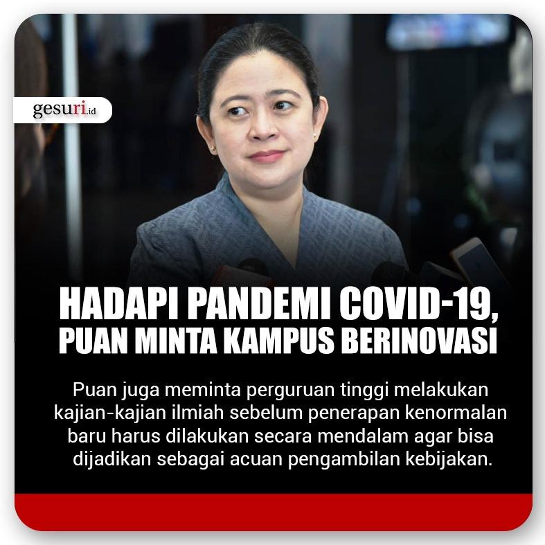 Hadapi Pandemi Covid-19 Puan Minta Kampus Berinovasi