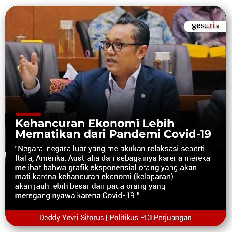 Kehancuran Ekonomi Lebih Mematikan dari Pandemi Covid-19