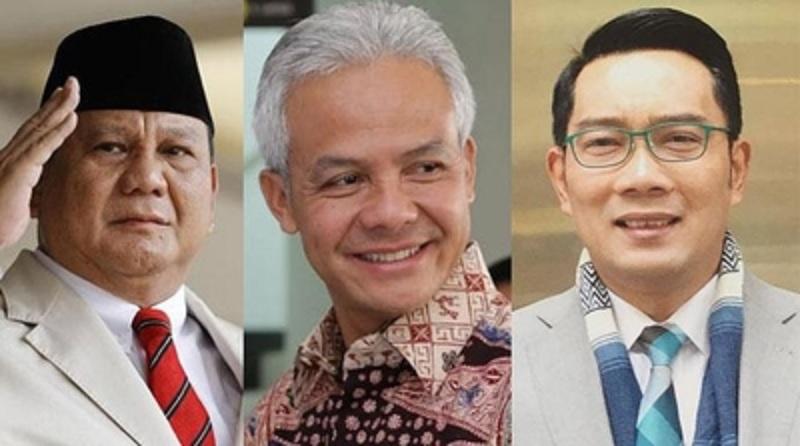 Survei: Prabowo, Ganjar, Ridwan 3 Besar di Pilpres 2024