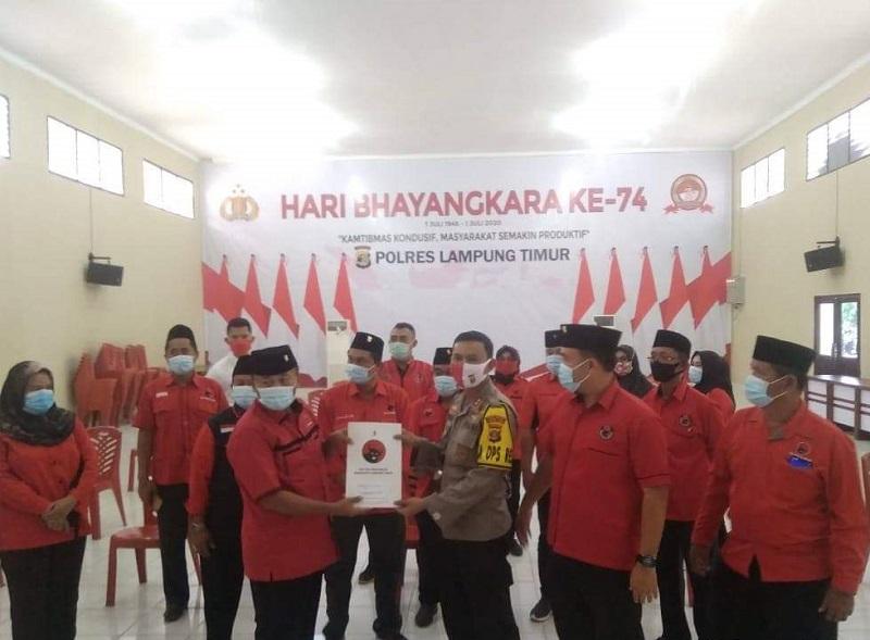 Banteng Lampung Timur Laporkan Kasus Pembakaran Bendera