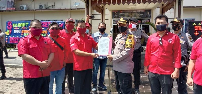 Banteng Mesuji Desak Polisi Proses Hukum Pembakar Bendera