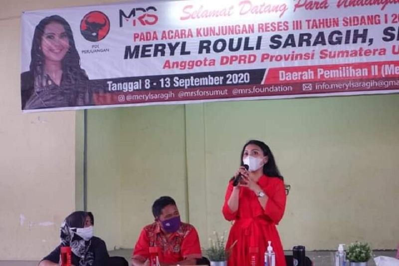 Reses di Medan Helvetia, Meryl Serap Aspirasi Isu Pendidikan