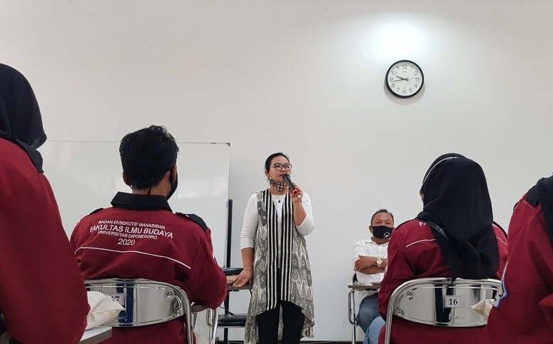 Audiensi Dengan BEM FIB Undip, Ini Pesan Penting Agustina