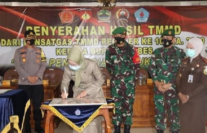 Bupati Idza Apresiasi TNI Manunggal Membangun Desa Ke-109