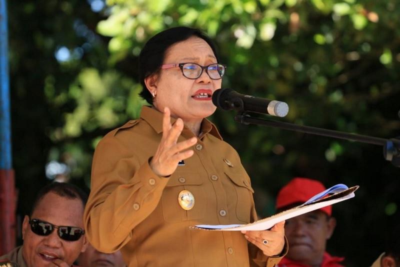Maria Geong Bertekad Jaga Eksistensi Pasar Tradisional