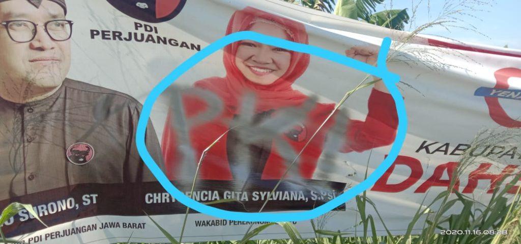 APK Dicoret Tulisan PKI, Banteng Bandung Lapor Bawaslu