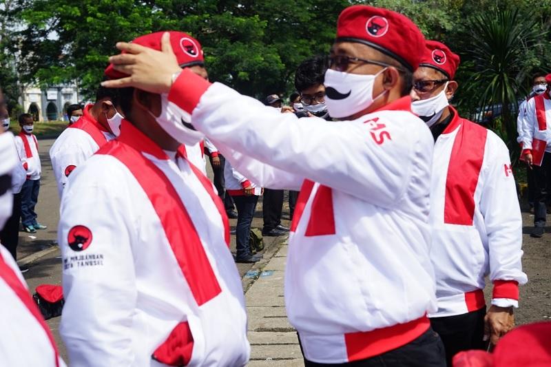PDI Perjuangan Tangsel Gelar Apel Satgas Anti Politik Uang