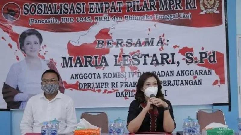 Maria Sosialisasikan Empat Pilar RI Pada Petani Bengkayang