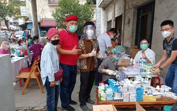 TMP Gelar Pengobatan Gratis ke Korban Banjir di Kota Medan