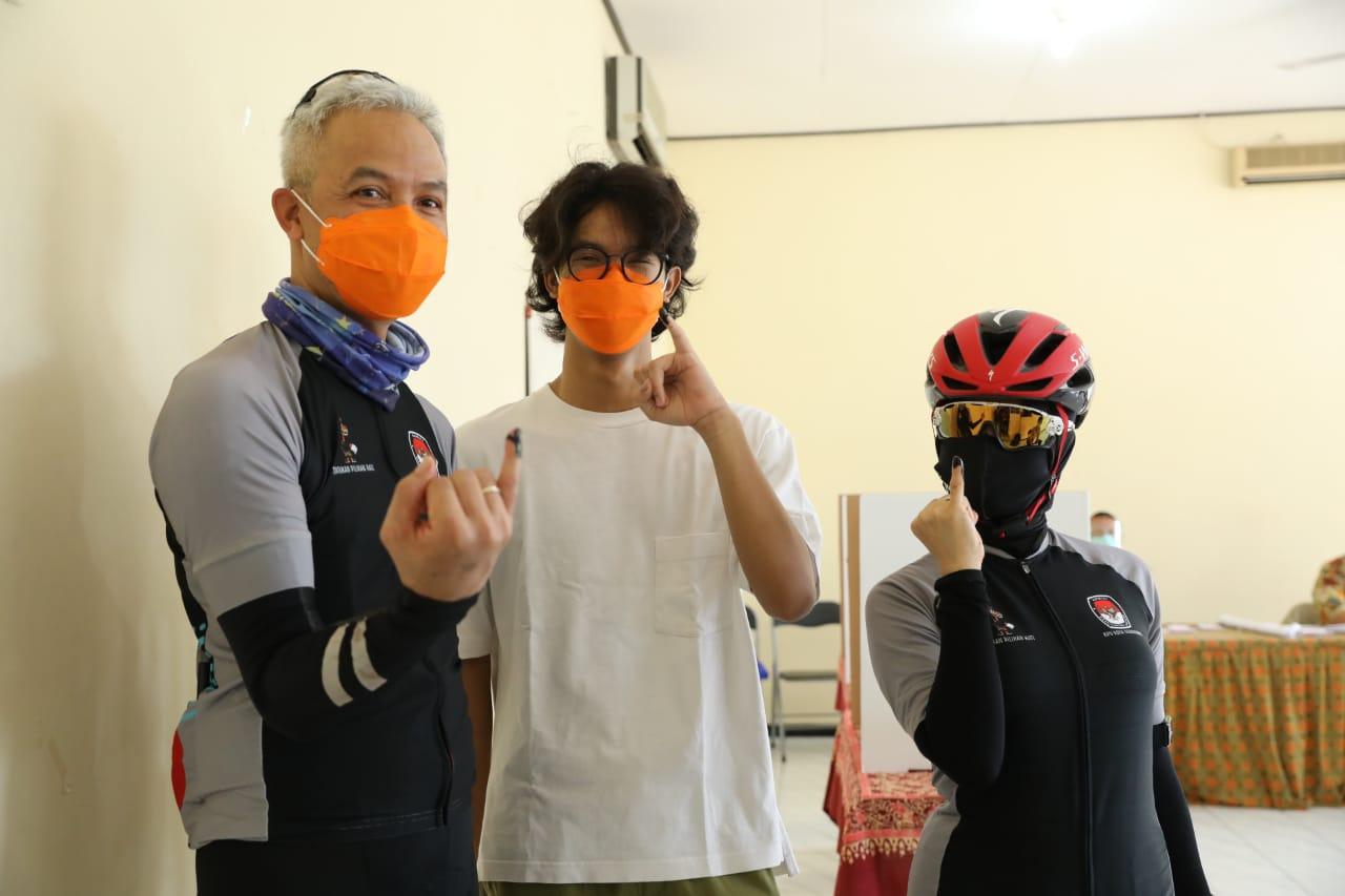 Usai Nyoblos di TPS 02 Gajahmungkur, Ini Harapan Ganjar