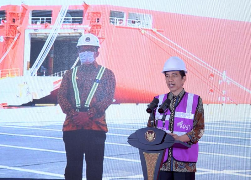 Presiden Saksikan Ekspor Perdana Melalui Pelabuhan Patimban