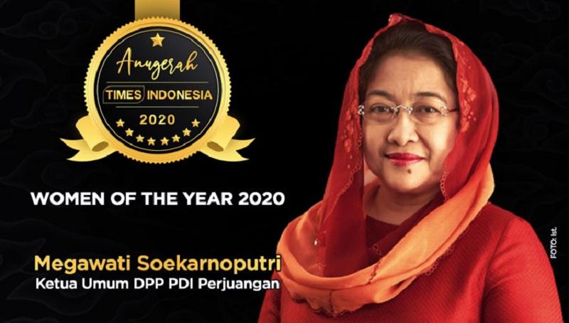 Megawati Soekarnoputri Sabet Women of The Year 2020